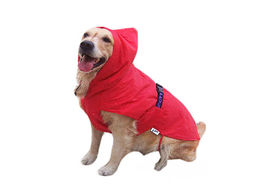 Zorba Dual Protection Solid Raincoats for Small Dogs, red, 20 inch