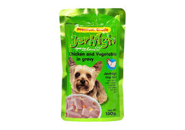 JerHigh Chicken and Vegetable in Gravy Dog Wet Food, 150 gms
