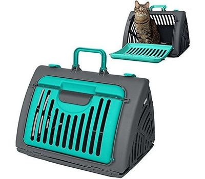 SportPet Travel Master Portable Cat Dog Carrier, green