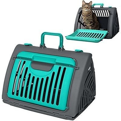 SportPet Collapsible Travel Master Portable Cat Dog Carrier, green