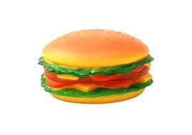 Jumbo Burger Shaped Latex Squeaky Dog Toy, 15 cms