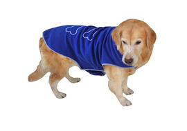 Zorba Designer Winter Fleece Jacket for Small Breed Dogs, blue, 16 inch