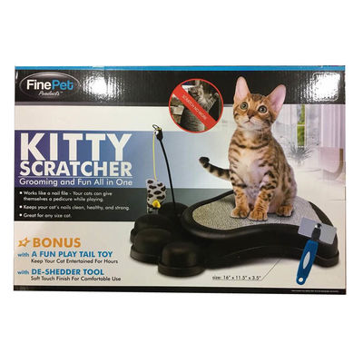 Fine Pet Kitty Scratcher with Cat Nip, black
