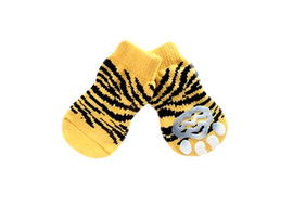 Puppy Love Multi Designs Anti Skid Socks for Small Breed Dogs, yellow tiger, small