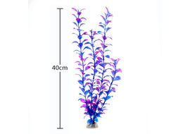 Imported PVC Artificial Leafy Plant Aquarium Decor, purple