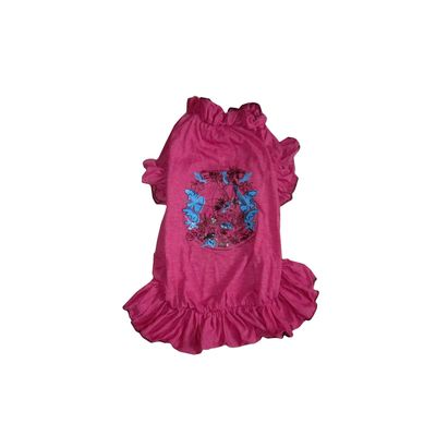 Zorba Designer Frilly Frock for Small Breed Dogs, pink, 18 inch