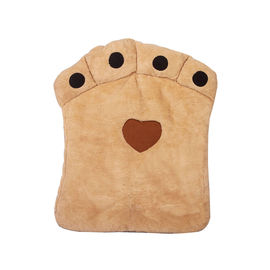 Nunbell Paw Shaped Cushion Bed for Medium to Large Dogs Cats, beige, 27 x 34 inch
