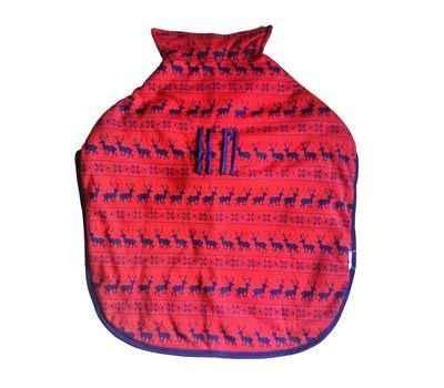 Rays Fleece Foam Warm Winter Coat for Large Dogs, red deer, 28 inch