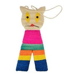 Canine Sisal Cat Shaped Cat Scratcher, multicolor