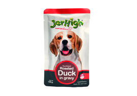 JerHigh Roasted Duck in Gravy Wet Dog Food, 120 gms