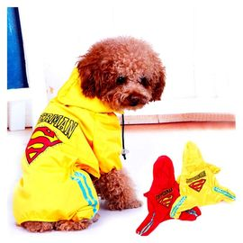 Puppy Love Jumpsuit Styled Superhero Raincoats for Medium Breed Dogs, 4l, red