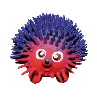 Canine Latex Rubber Spiked Rat Squeaky Toy, 4 inch, red