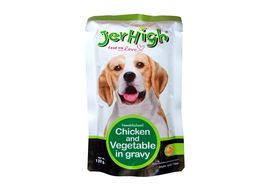 JerHigh Chicken and Vegetable in Gravy Dog Wet Food, 120 gms