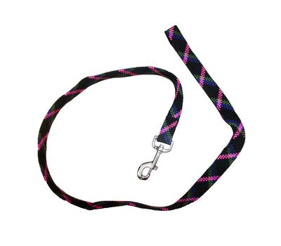 Imported Thick Nylon Weaved Medium Dog Leash, black