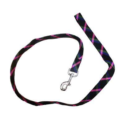 Imported Thick Nylon Weaved Medium Dog Leash, black