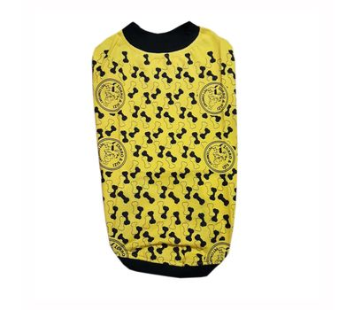 Zorro & Sizi Printed Tshirt for Large Dogs, yellow, 26 inch