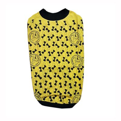 Zorro & Sizi Printed Tshirt for Medium Dogs, yellow, 22 inch