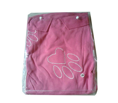 Zorba Designer High Quality Embroidered Tshirt for Large to Giant Dogs, pink, 28 inch