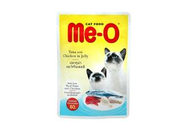 MeO Tuna with Chicken in Jelly Gravy Cat Food, 80 gms