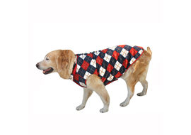 Zorba Designer High Quality Winter Coat for Small Breed Dogs, classic checks, 20 inch