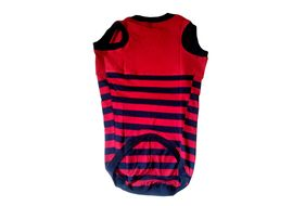 Zorba Designer Striped Tshirt for Large Dogs, red, 26 inch