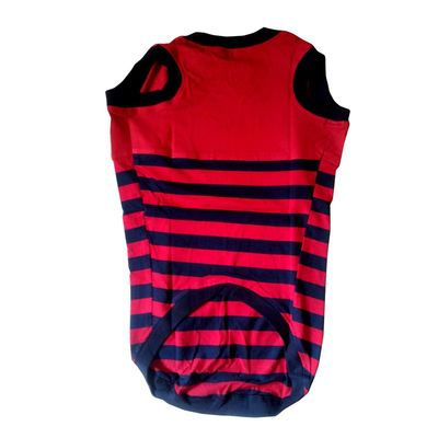 Zorba Designer Striped Tshirt for Small Breed Dogs, red, 16 inch
