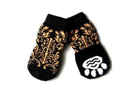 Puppy Love Anti Skid Socks for Large Breed Dogs, tiger stripes, 2xl