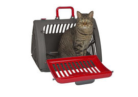 SportPet Travel Master Portable Cat Dog Carrier, red
