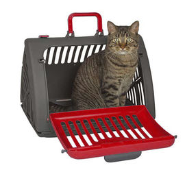 SportPet Travel Master Portable Cat & Dog Carrier, red