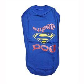 Zorba Designer Sports Collection Tshirt for Medium Breed Dogs, blue super dog, 24 inch