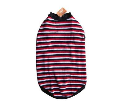 Rays Woollen Sweater for Small Dogs, 18 inch, red black stripes