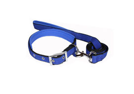 Canine Dog Leash and Collar Set Plain, blue