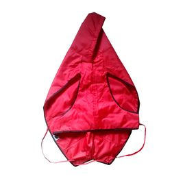 Zorba Designer Dual Protection Solid Raincoats for Small Dogs, red, 20 inch