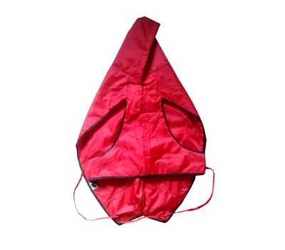 Zorba Designer Dual Protection Solid Raincoats for Small Dogs, red, 14 inch