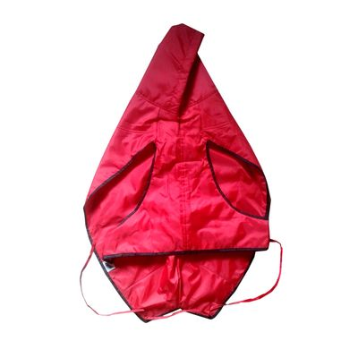 Zorba Dual Protection Solid Raincoats for Small Dogs, red, 14 inch