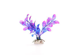 Imported PVC Artificial Weed Plant Aquarium Decor, purple, 30 cms