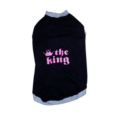 Rays The King Dog Tshirt for Small Breed Dogs, 10 inch, black