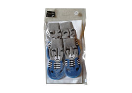 Puppy Love Anti Skid Sock Shoes for Medium Breed Dogs, blue, large