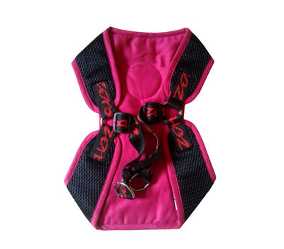 Zorba Designer Body Harness for Small Breed Dogs, pink, 18 inch