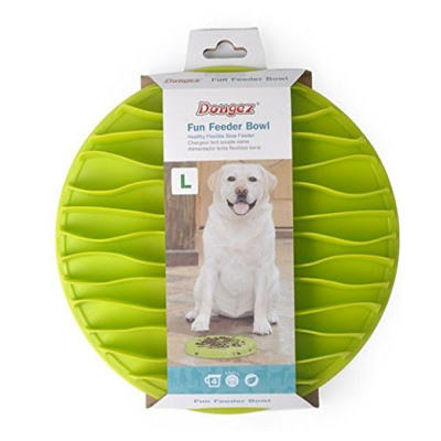 Dougez Fun Silicone Anti Choking Slow Feeder Mat for Dogs, green, small