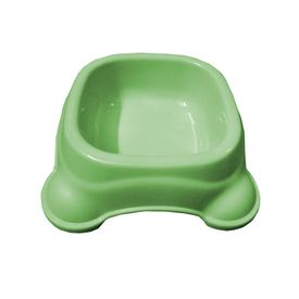 Imported Square Anti Skid Plastic Bowl for Small & Medium Dogs, medium, green