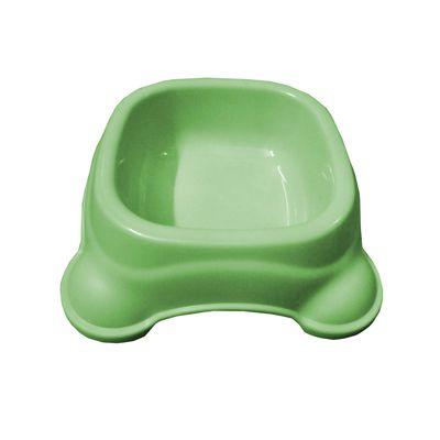 Imported Square Anti Skid Plastic Bowl, medium, green