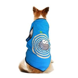 Canes Venatici Bugz Free Repellent Gear Tshirt for Toy Breed Dogs, blue, 12 inch