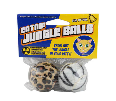 Petsport USA Catnip Jungle Balls for Cats, 2 inch