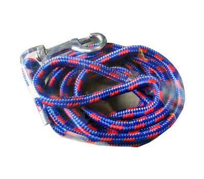 Canine Mini Braided Reflective Rope Lead, medium, blue red