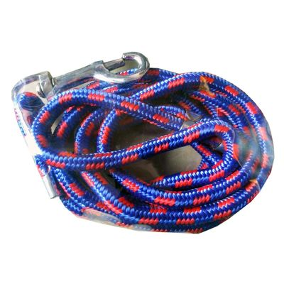 Canine Mini Braided Reflective Rope Lead, medium, blue red