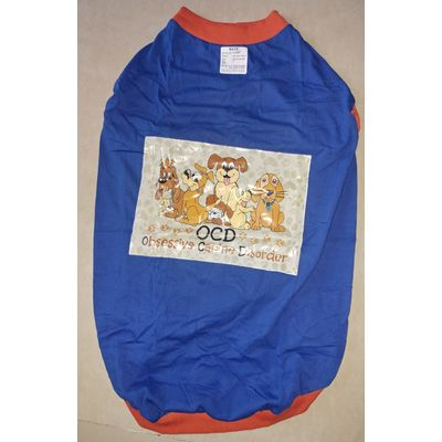 Rays Rubber Print Tshirt, blue ocd, 24 inch