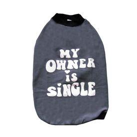 Rays Fleece Warm Owner Single Rubber Print Tshirt for Medium Dogs, 22 inch, grey