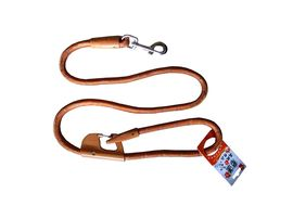 Nunbell Double Lock Thick Nylon Rope Tying Lead for Dogs, brown, 48 inch