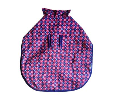 Rays Fleece Foam Warm Winter Coat for Large Dogs, red navy checkers, 28 inch
